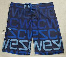 WeSC Men's Blue Board Shorts,Surf Swim Trunks Size-Large L