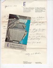 MONTREAL Quebec Canada Postcard QUEEN ELIZABETH HOTEL Street View 1971 Letter