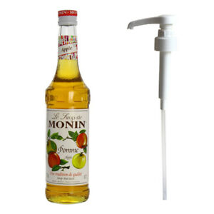 MONIN Coffee Syrup YELLOW APPLE 70 CL and Pump