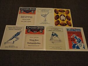 8X10 Photos; Game Program Covers for 1930s NFL Title Games: 1933-1939