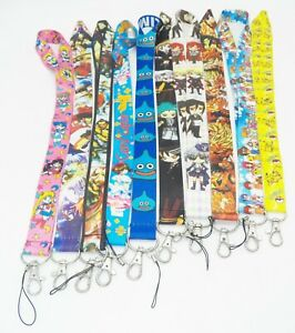 10 Assorted Black Butler Digimon Inuyasha Street Fighter Key Chain LANYARD #23
