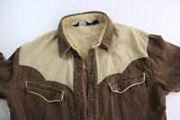VTG JC Penney 1980's Western Cord Shirt M S 15 x 32/33