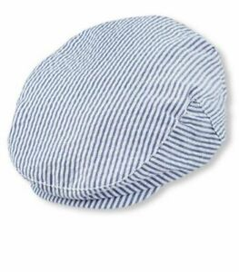 The Childrens Place Newsboy Hat Cabbie Cap Blue Striped Size XS/S 6-24 months