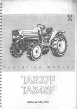 Iseki Tractor TA537F & TA545F Operators Manual