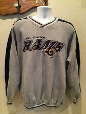 Mens VTG Lee Sport NFL St Louis Rams Sweatshirt Jeresy Gray Blue Football Sz XL