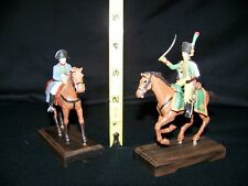 VINTAGE MOUNTED NAPOLEON & NAPOLEONIC OFFICER LEAD FIGURES MAKER UNKNOWN