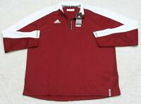 New Adidas Climalite Polo Shirt XL Red White Long Sleeve Extra Large $60 MSRP