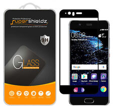 2X Supershieldz for Huawei P10  Full Cover Tempered Glass Screen Protector Black