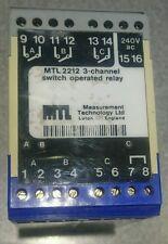 Relé de 3 canales MTL 2212