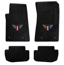 NEW! BLACK FLOOR MATS 2010-2015 Camaro Embroidered Red White Blue Crest Logo Set