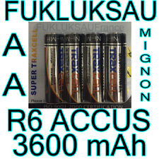 16 x PILES AA | PILES ACCUS RECHARGEABLE MIGNON 3600mAh Ni-MH 1,2V R6 LR6 - PRO