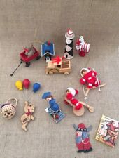 Vtg Mix And Match Wooden Paper And Metal Christmas Ornaments Lotbof 12