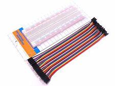 830 Tie Point Solderless Breadboard + 40 Pieces Male M-M 20cm Dupont Jumper Wire