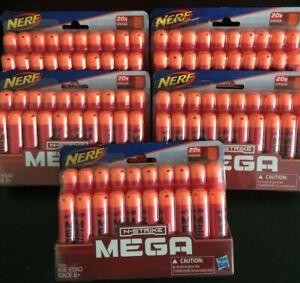 NERF Official N-Strike Elite MEGA Dart 20-Pack Refill Lot of 5 packs ~ 100 Count