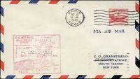 USA FIRST FLIGHT AIR MAIL Cover Oct. 15,1949 PARIS,TEXAS - NEW YORK