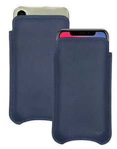 For iPhone X/Xs Case Blue Leather Screen Clean Sanitizing kills 99.9% viruses