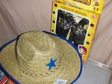4 Piece Cowboy set Hat , Cowboy Guns , Bandanna , Hand cuff Wild West Play set