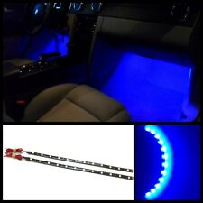 """2X 12"""" Ultra blue 12 SMD LED interior strip footwell ambient light exterior #B2"""