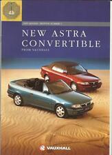 VAUXHALL ASTRA CONVERTIBLE 1.6i MANUAL,1.6i AUTO & 1.8i SALES BROCHURE 1994 1995