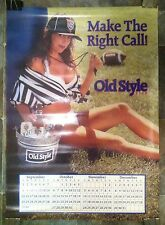 Vintage 1991 Old Style Beer,Sexy Football Referee Poster and Calendar,Unused
