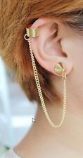 BOUCLE OREILLE CHAINETTE SEXY SOIREE MARIAGE GOTH CLUBWEAR PUNK