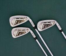 Set of 3 x Ping i20 Black Dot Irons 5-7 Stiff Steel Shafts Ping Grips