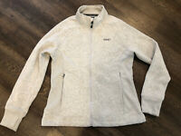 Gramicci Jacket Lightweight Size L Large Thumb Holes Zip Up Oatmeal Color