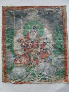 THANGKA ancienne - tibet, népal , peinture sur toile