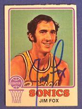 JIM FOX signed 1973-74 Topps Seattle Super Sonics