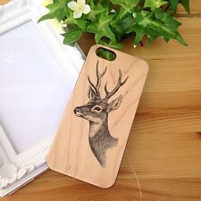 Ultra Case Deer Head Wood Case for iPhone 6 6s plus 5 5s 4 4s GS4 GS5