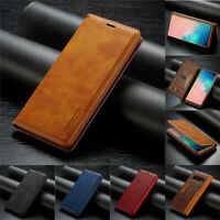 Leather Case For Samsung Note 20 S20 S10 S9 Plus Flip Magnetic Card Stand Cover