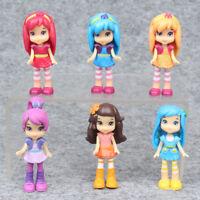 6 PCS Strawberry Shortcake Princess Figure Cake Topper Kids Girl Cute Doll Toys