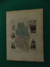 MEUSE CARTE ATLAS MIGEON Edition 1885, Carte + fiche descriptive