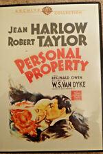 Personal Property DVD Jean Harlow Robert Taylor 1937 Like New!