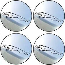 4 stickers JAGUAR chrome 40 à 100 MM centre jantes XK XJR XJ8 XJ6 X-TYPE S-TYPE