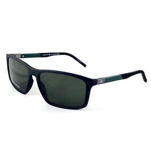 Tommy Hilfiger Men's Matte Black Green Lens 59mm Sunglasses - TH1650/S 0003 QT