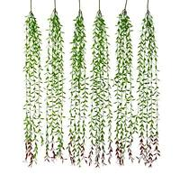 Artificial Eucalyptus Garland-6pcs Ivy Vines for Wall Hanging-Plant Leaves Decor