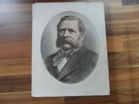 Old antique colour print - William Waddington - France - political world leaders