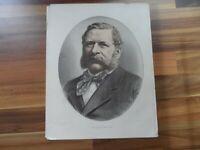 Old antique colour print - William Waddington - France - political world leaders