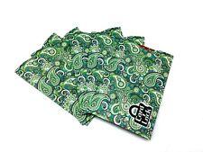 Card Lock RFID Credit Card Protection Sleeves Green Paisley Look As Seen TV 5pk