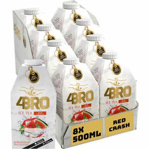4BRO Red Crash Ice Tea 8x0.50 L Packung