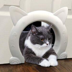 ikuso Indoor Cat Door, Cat Door for Interior Door, Pet Doors for Cat, Kitties