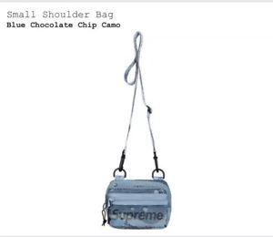 Supreme Small Shoulder Bag Blue Chocolate Chip Camo SS20 NWT