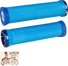 ODI ELITE MOTION LOCK-ON LIGHT BLUE W/ BLUE CLAMPS BICYCLE GRIPS