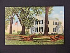 Vintage Postcard Old Indian Agency House Fort Winniebago Portage Wisconsin 1832