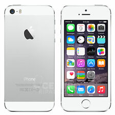 APPLE IPHONE 5S 16GB iOS 9 ORIGINALE SILVER BIANCO ACCESSORI GARANZIA