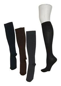 Legacy Women's M/L Wide Graduated Compression Socks 4 Pack Brown Socks A294527