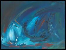 Peinture abstraite acrylique sur toile, bateau abstrait, abstract painting