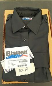 Blauer Class Act 8900W Uniform Long Sleeve Shirt Zipper Front