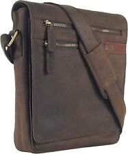 UNICORN Real Leather iPad, Kindle, Tablets & Accessories Messenger Bag Brown #4G